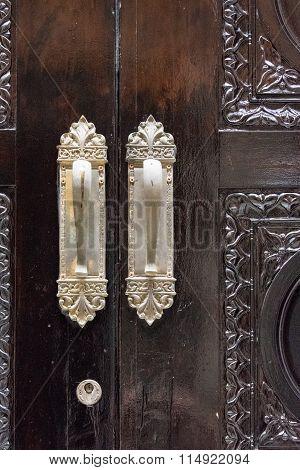 Vintage Luxurious Wooden Door Detail