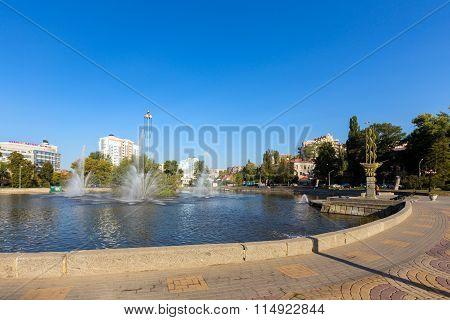 Diorama Battle of Kursk. Belgorod. Russia