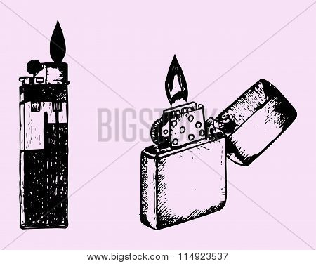 set cigar lighter