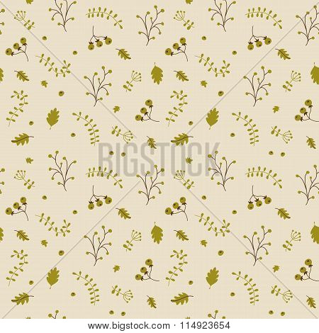 Floral Seamless Pattern. Vector Background.