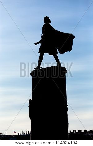 Monument to Peter the Great. Lipetsk. Russia