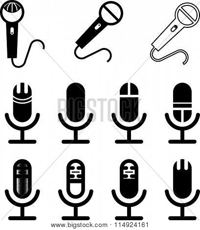 Microphone Icon Symbol Vector Illustration