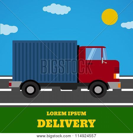 Delivery Vector Truck. Delivery Service Van. Delivery Car Icon. Fast Delivery Truck Isolated. Vector
