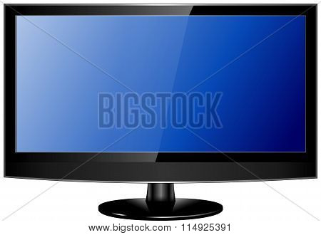 Lcd Tv Realistic Vector Illustration