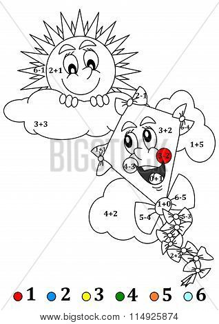 Merry Sun And The Kite As The Counting For Little Kids
