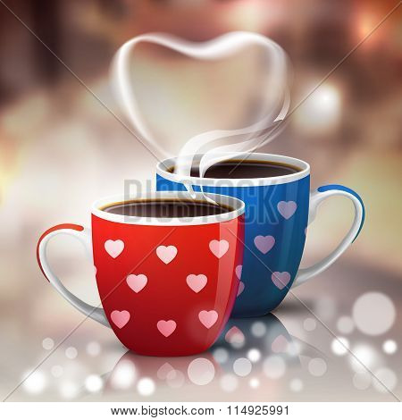 Coffee cups for Valentines Holiday