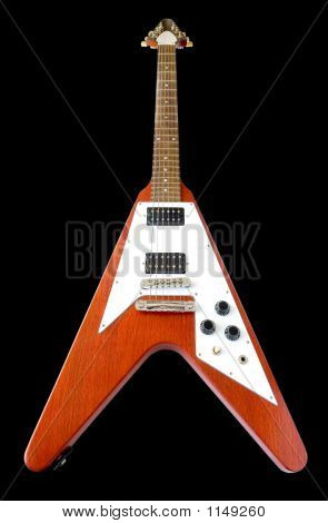 Flying V Guitar (+Clipping Path)