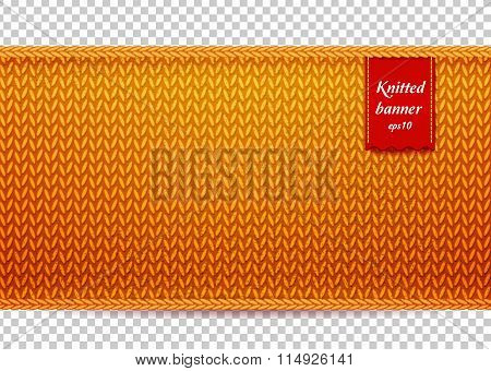 Golden knitted banner
