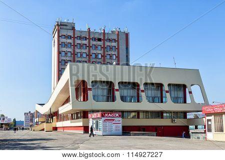 Railway station in the city Lipetsk. Russia
