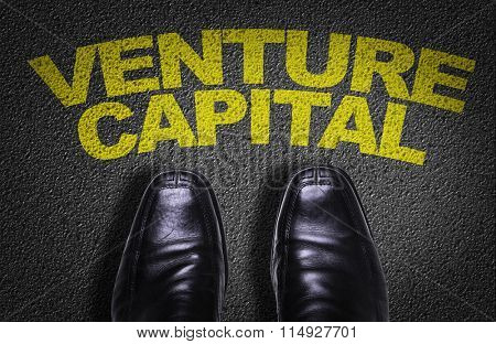 Top View of Business Shoes on the floor with the text: Venture Capital
