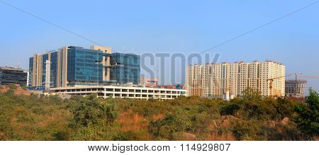Hyderabad, INDIA - November 29 : Hitec city in Hyderabad is major high tech business district in India, on November 29,2015 Hyderabad, India