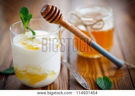 Greek yogurt with honey