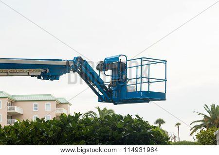 Blue Lift Over Condos