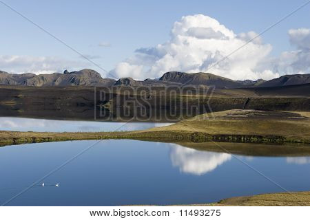 Sky Reflection in a Lake @ Iceland