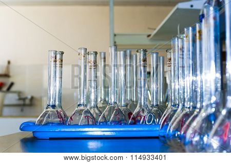 Flasks In The Test Laboratory