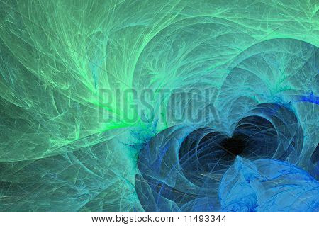 Glowing Green Blue Background