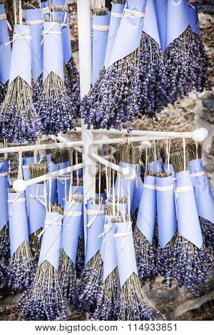 The Rack With Dried Lavender
