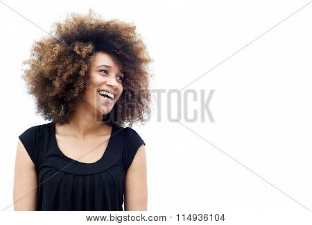 Laughing African American Woman