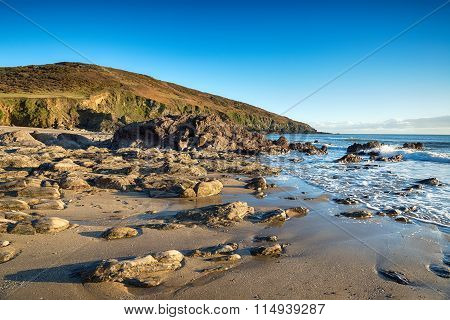 The Beach At Penare In Cornwall