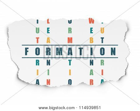 Learning concept: Formation in Crossword Puzzle