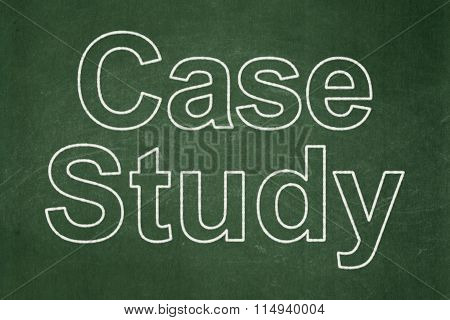 Studying concept: Case Study on chalkboard background
