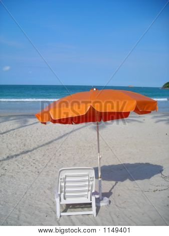 Single Chair Facing Beach @ Bintan, Indonesia