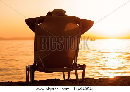 Summer Relax Lifestyle Woman At Beach