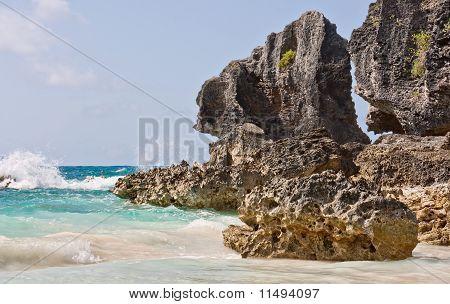 Ocean And Boulders