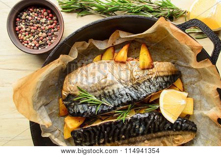 Baked fish mackerel