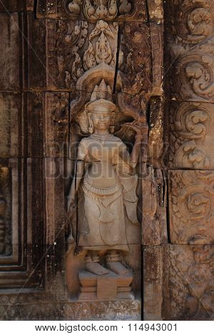 Devata at Ta Som in Angkor Siem Reap Cambodia