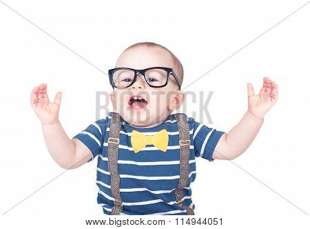 Smart Baby Wearing Glasses