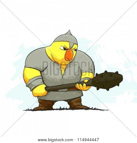 angry chicken warrior