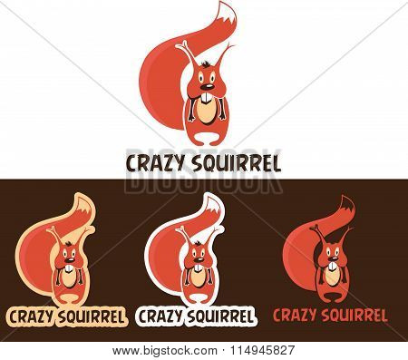 Crazy Squirrel Cartoon Character