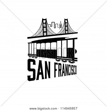 San Francisco Golden Gate Bridge And Tram