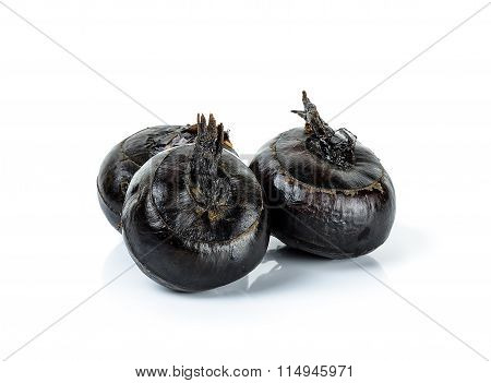 Water Chestnut Isolated On The White Background