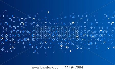 Blue abstract background with trigons. Vector paper illustration.