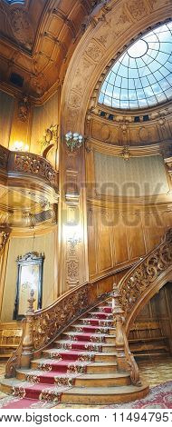 Vintage Wooden Spiral Staircase