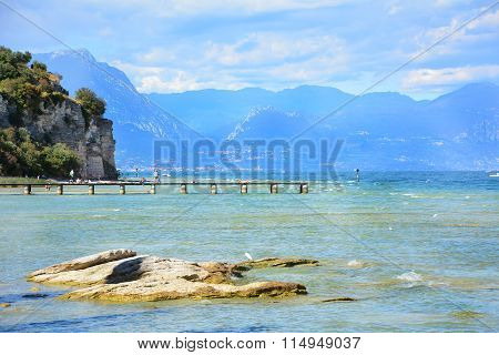 Desenzano Garda Lake Pontoon