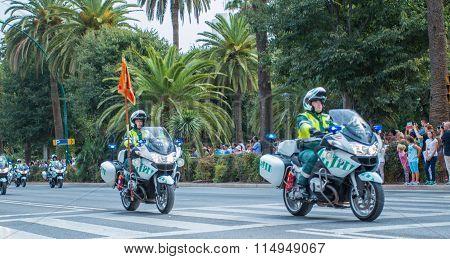 Guardia Civil Parade In Malaga, Spain