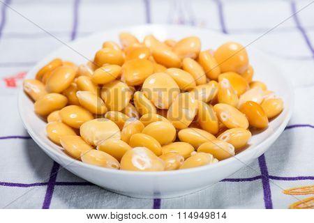 Fresh Legumes Lupins In Macro