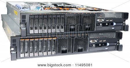 Two Rack Mount Servers