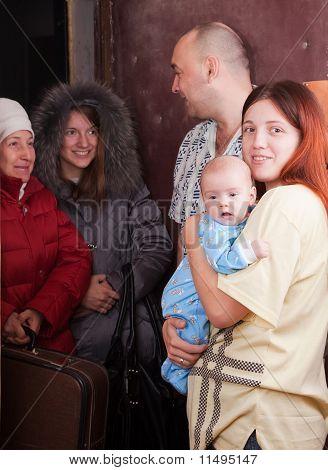 Família reúne um parentes