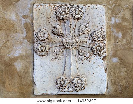 Decorative Architectural Cross, Florence, Italy.