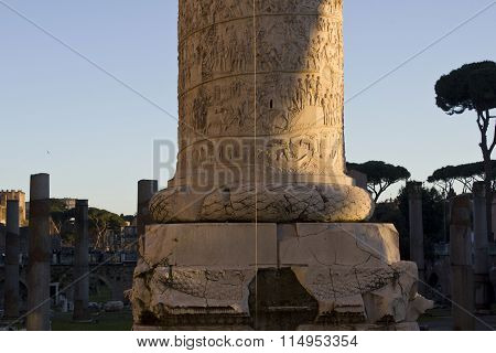 Bottom Of Trajan Column In Rome