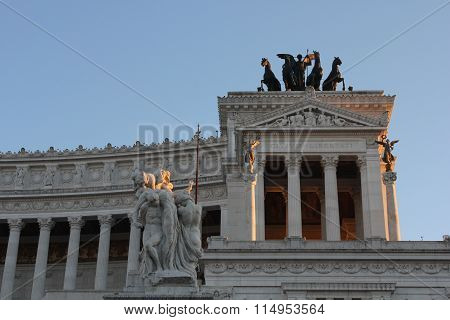 Side Of The Altar Of The Fatherland