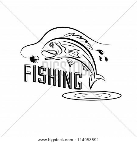 Fishing Vector Design Template