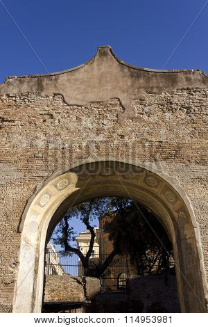 Arch Close-up In The Baths Of Diocletian Complex