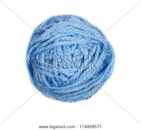 Blue Skein Over White