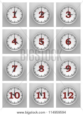 Wall Of Clocks