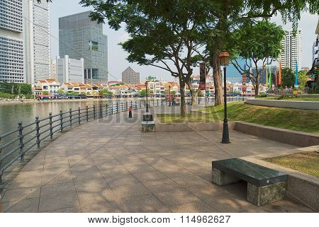 View to the historical quay in Singapore, Singapore.